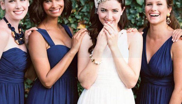 Сумеречный блюз: платья подружек невесты глубокого синего оттенка
