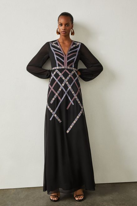 f09af21bb96fa3 Чорна сукня з геометричною вишивкою - прокат и аренда в Киеве от ...