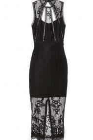 Чёрное кружевное платье Oralie