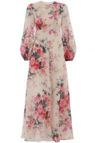 Платье в пол Laelia с флористическим принтом