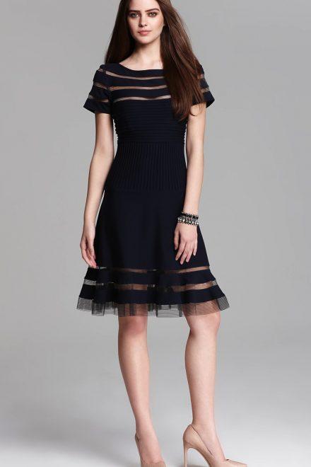 f0d4d405eab Коктейльное черное платье c кружевными вставками - прокат и аренда в ...