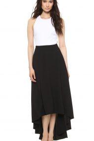 Черно-белое платье с боковыми вырезами