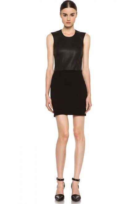 091a5715a7f Черное платье с кожаным топом - прокат и аренда в Киеве от Rent A Brand