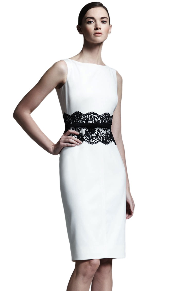 e4dfea52666 Платье-футляр с черным кружевом на талии - прокат и аренда в Киеве от Rent  A Brand
