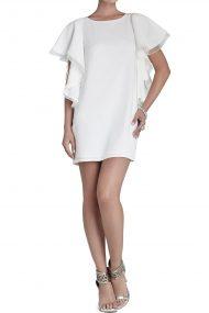Белое платье Solace c рукавами-кимоно