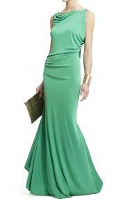 Зеленое платье Fran c открытой спиной