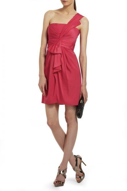7a963a27774 Красное коктейльное платье Palais с оголенным плечом - прокат и ...