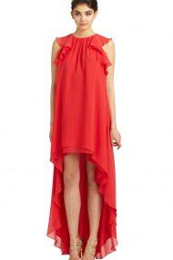Яркое асимметричное платье