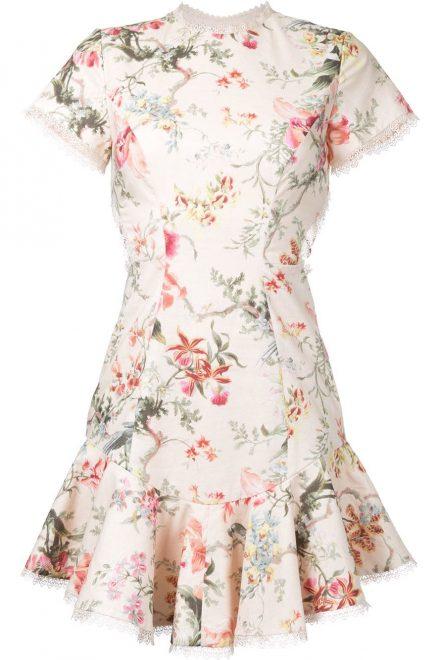 6fe03cf5138 Платье с флористическим принтом и воланом на юбке - прокат и аренда ...