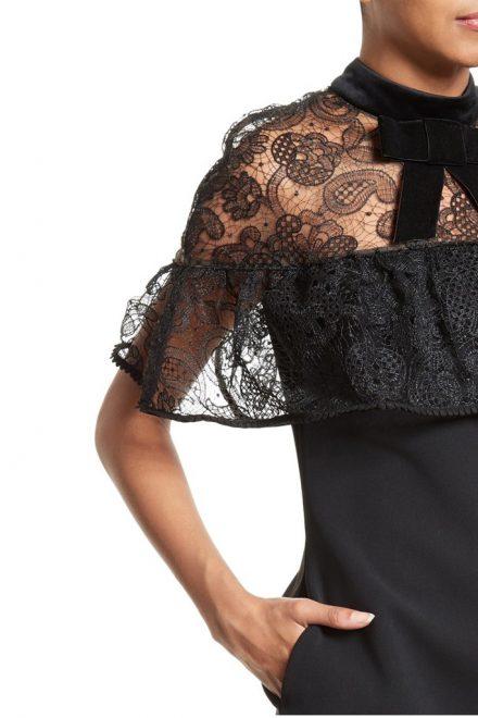 c9981f04a92 Чёрное мини-платье с кружевной кокеткой - прокат и аренда в Киеве от ...