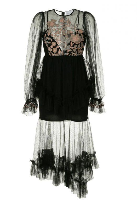 Чорна сукня Beyond з контрастною вишивкою