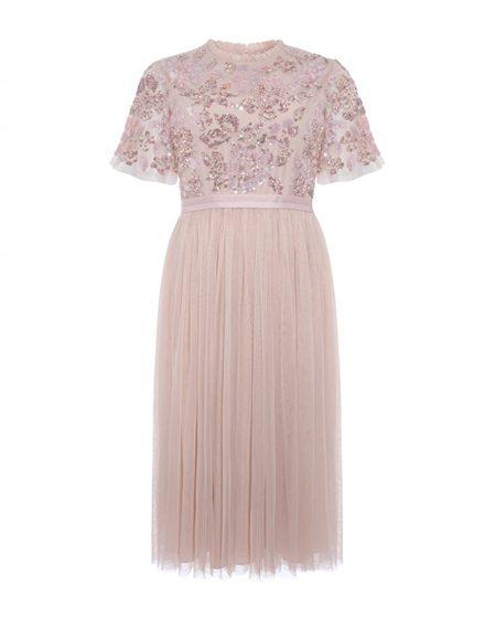 e3bd1c53d52 Коктейльное платье в цвете розовый кварц - прокат и аренда в Киеве ...