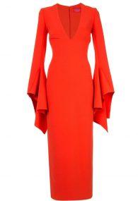 Лаконичное платье Laroche с акцентными рукавами