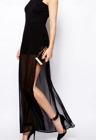Чёрная прозрачная юбка с шортами