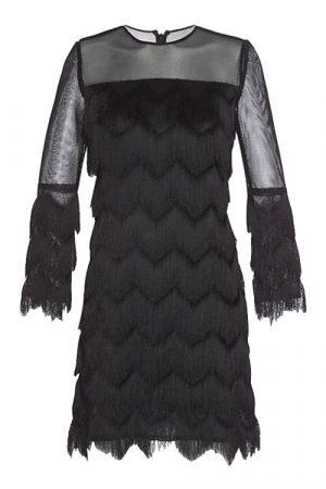 Міні-сукня з бахромою