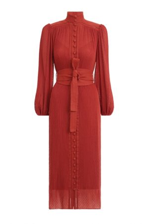 Плісирована сукня Espionage відтінку стиглого граната