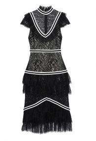 Чёрное кружевное платье Annetta