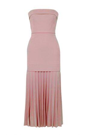 Міді сукня зі спідницею плісе