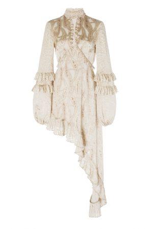 Асимметричное платье Liora с принтом пейсли