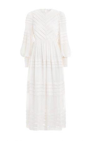 Миди-платье жемчужного оттенка