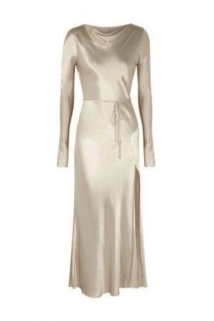 Асимметричное платье Kaia жемчужного оттенка