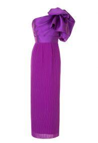 Пурпурное платье с акцентным бантом