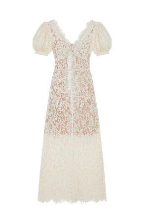 Подиумное кружевное платье Camellia