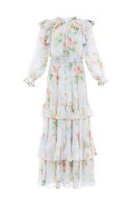 Платье Abigail с акварельным принтом