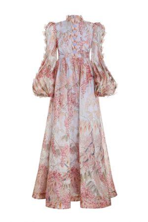 Подиумное шёлковое платье Botanica Butterfly