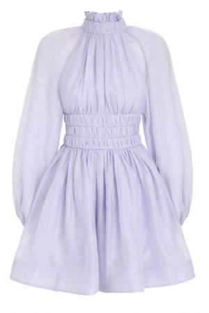 Подиумное платье лавандового оттенка