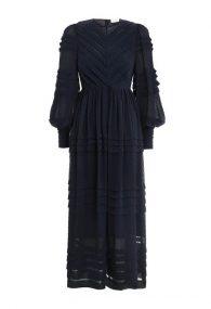 Платье глубокого синего оттенка